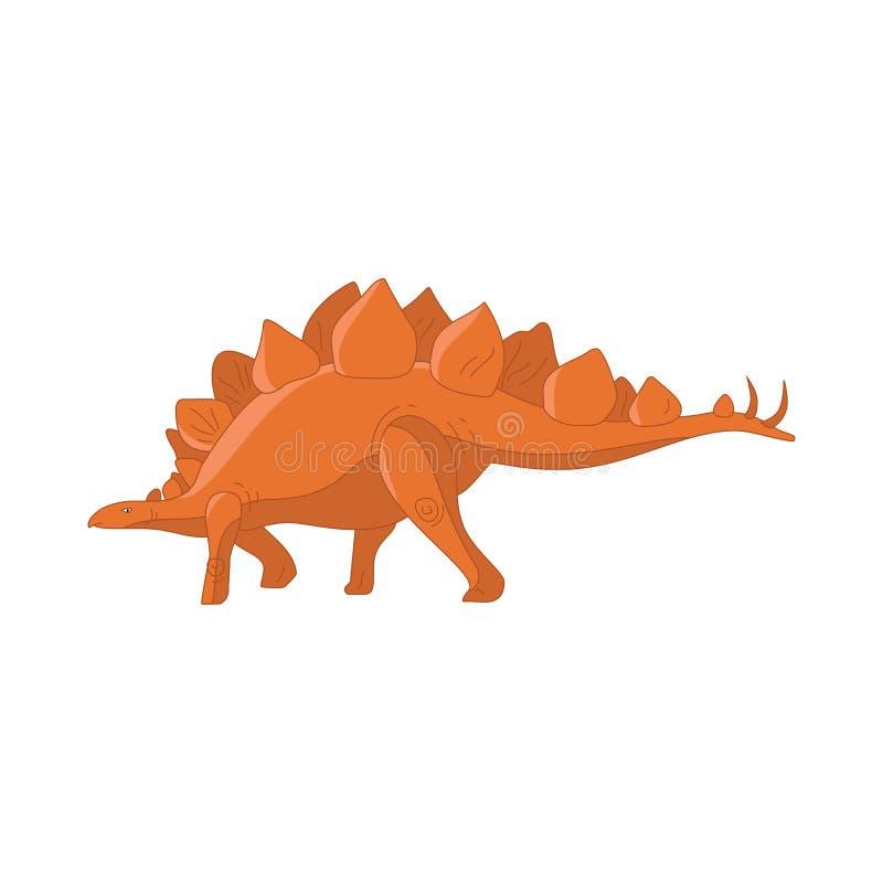Nettes lustiges Monster der Dinosaurierkarikatur Karikaturdinosaurier-Charaktertier Komische Dinosaurierkinder für Spiel-APP Vekt lizenzfreie abbildung
