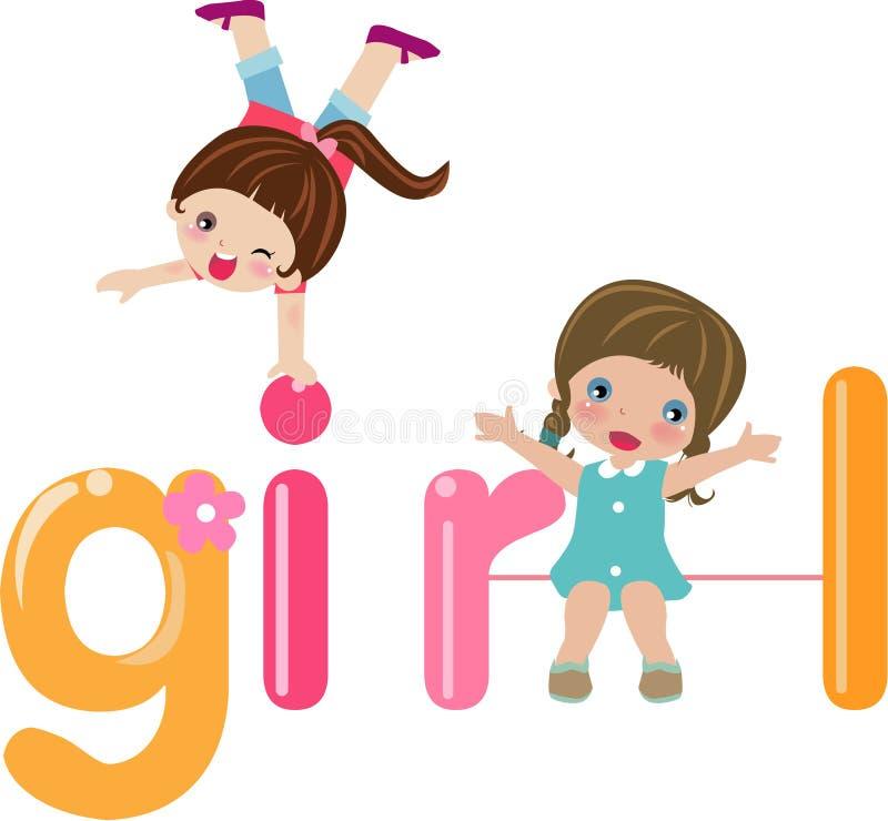 Nettes Mädchen lizenzfreie abbildung