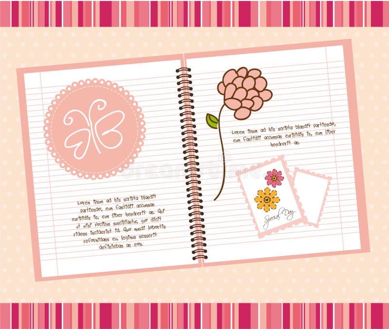 Nettes Notizbuch lizenzfreie abbildung