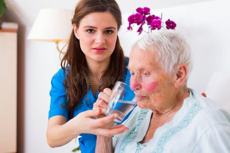 Nettes Pflegekraft-Helfen lizenzfreie stockfotografie