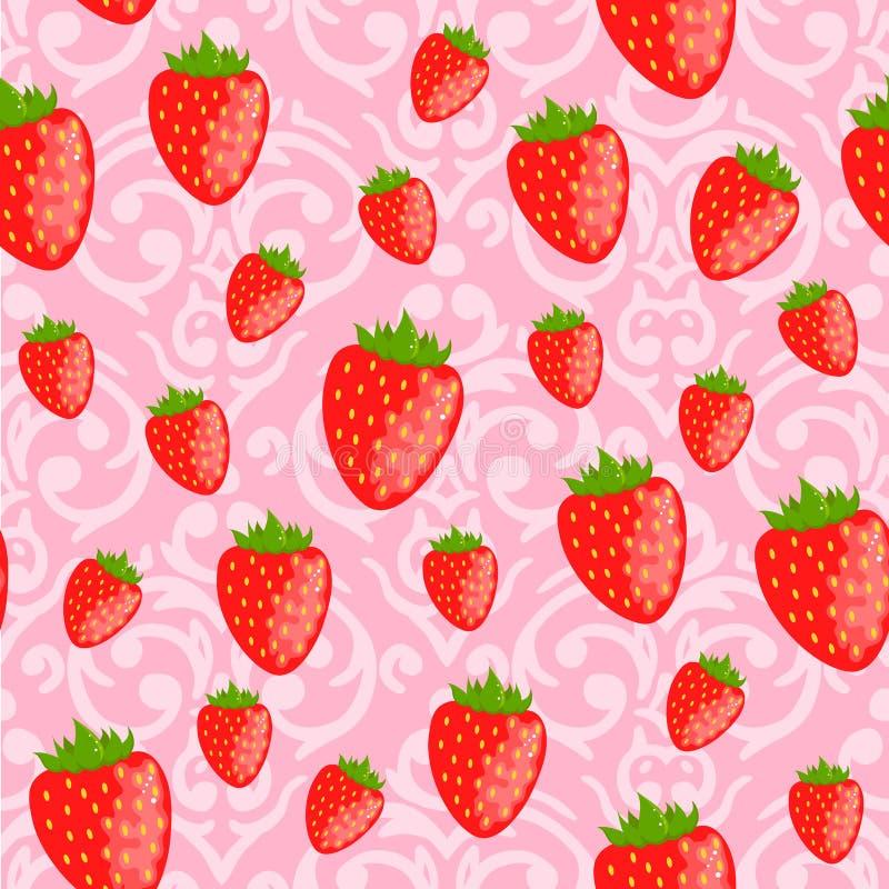 Nettes rosa nahtloses Valentinstagmuster stock abbildung