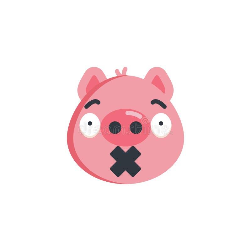 Nettes Ruhe emoji flache Ikone stock abbildung