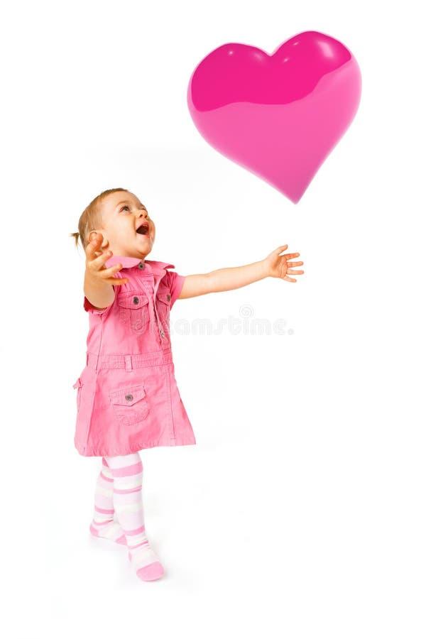 Nettes Schätzchen Mit Ballon Stockfotografie