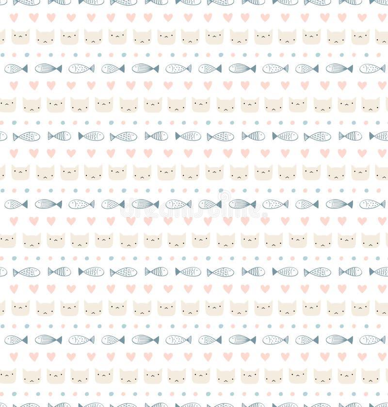 Nettes skandinavisches nahtloses Muster lizenzfreie abbildung