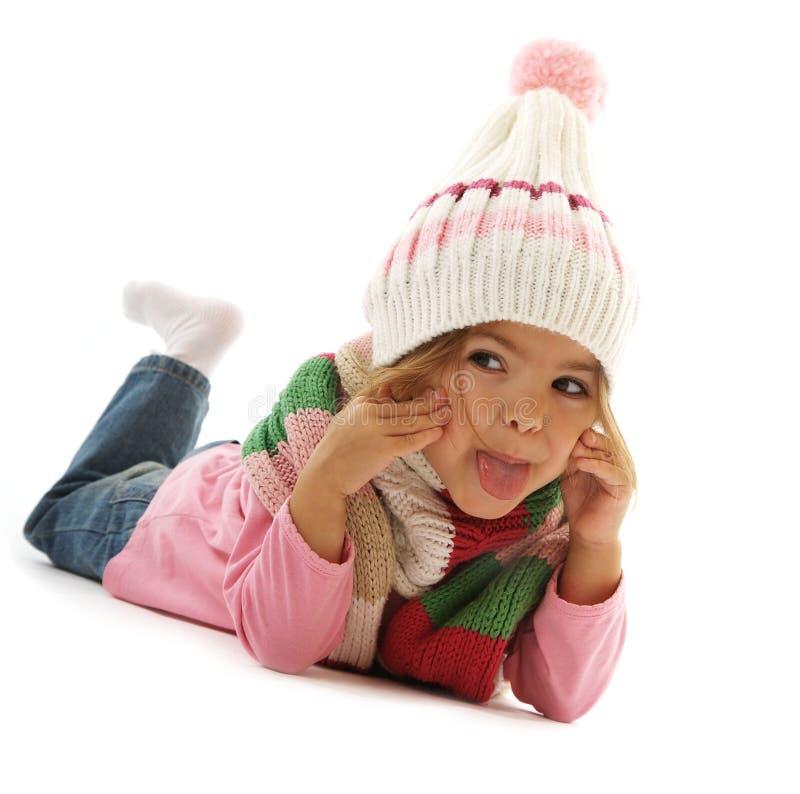 Nettes spielerisches kleines Mädchen lizenzfreies stockbild