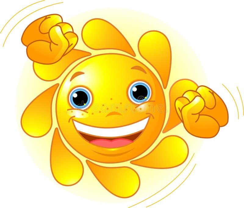 Nettes Tanzen Sun stock abbildung
