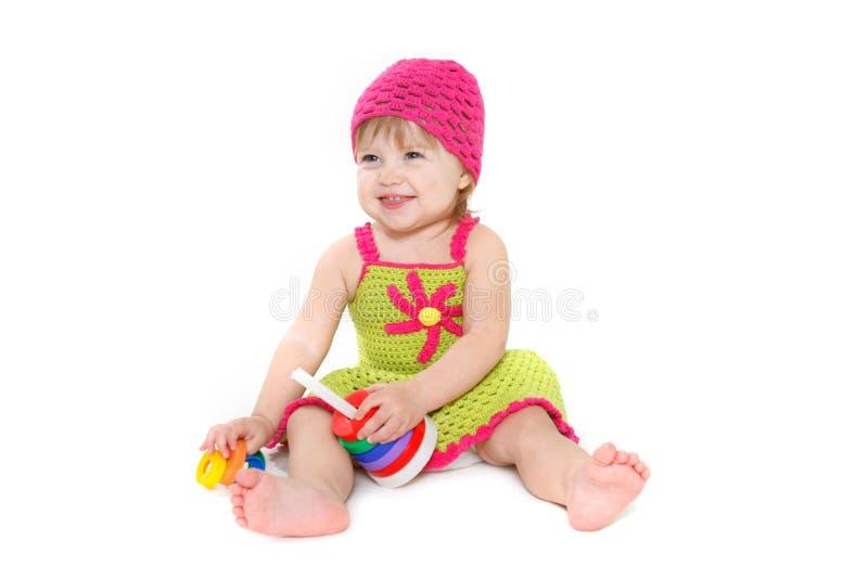 Nettes tddler Mädchenspielen lizenzfreie stockfotografie