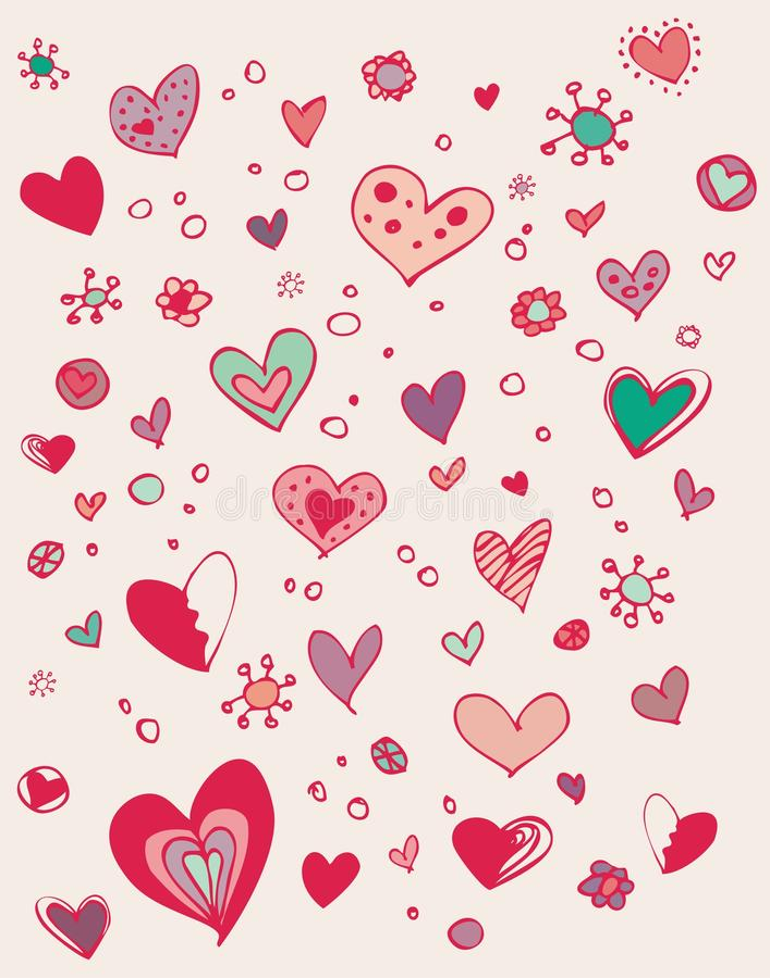 Nettes Valentinsgrußgekritzel lizenzfreie abbildung