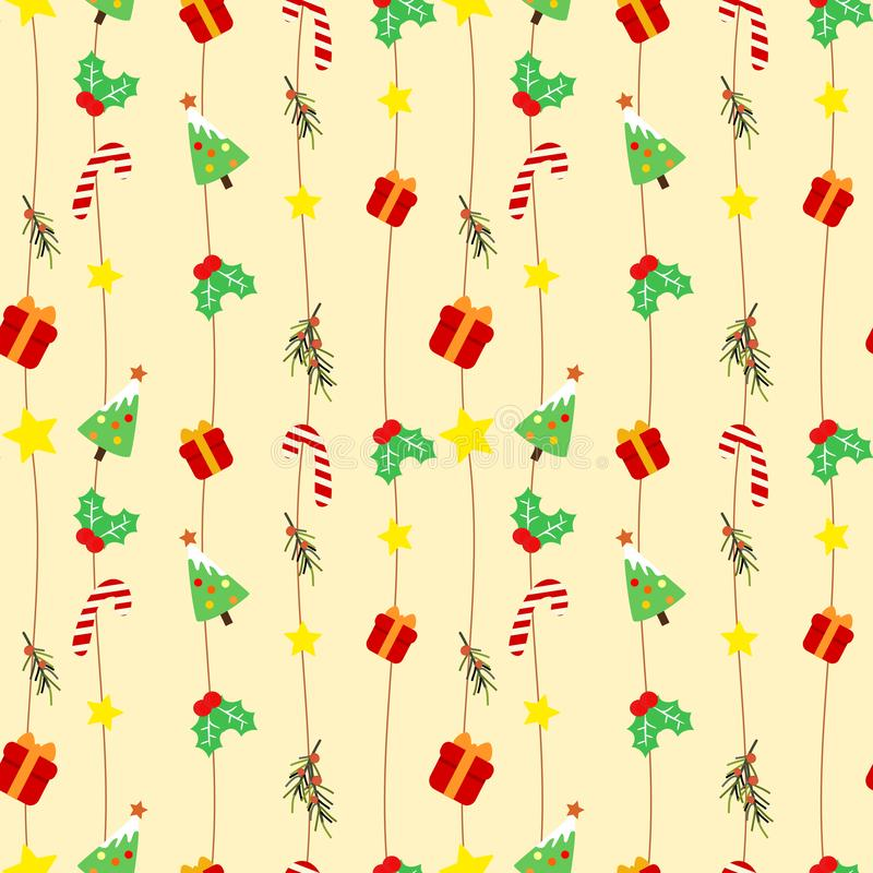 Nettes Weihnachtsnahtloses Muster stock abbildung