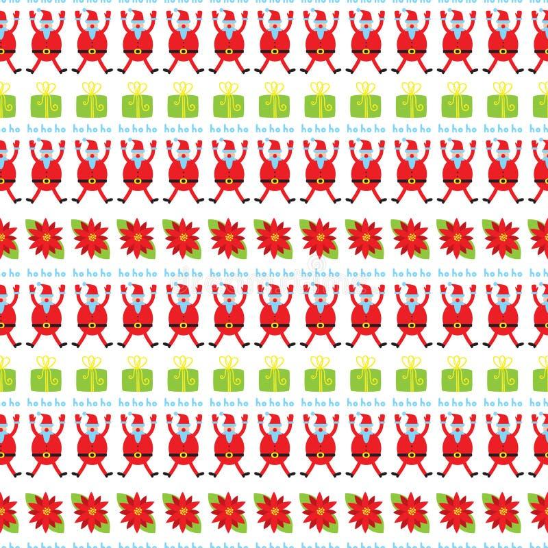 Nettes Weihnachtsnahtloses Muster Feiertagshintergrund mit poinset vektor abbildung