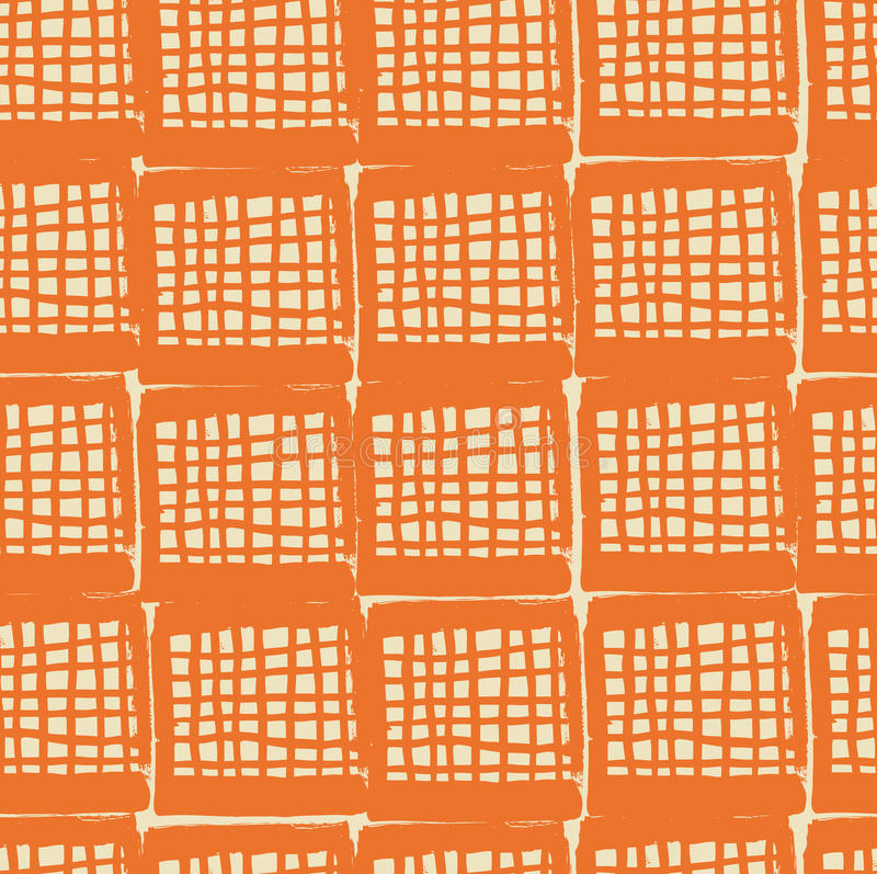 Netting Abstract Grungy Pattern. Seamless Net Back Royalty Free Stock Photography