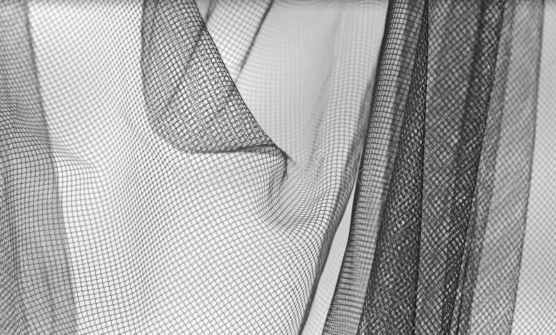 Netting black and white background royalty free stock photo