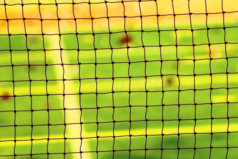 Netto achtergrond voor badmintonspel royalty-vrije stock foto