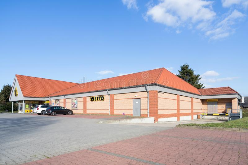 Netto Lebensmitteldiscounter branch in Quickborn Germany. Netto is a Danish discount supermarket operating in Denmark, Germany, Poland and Sweden stock photos