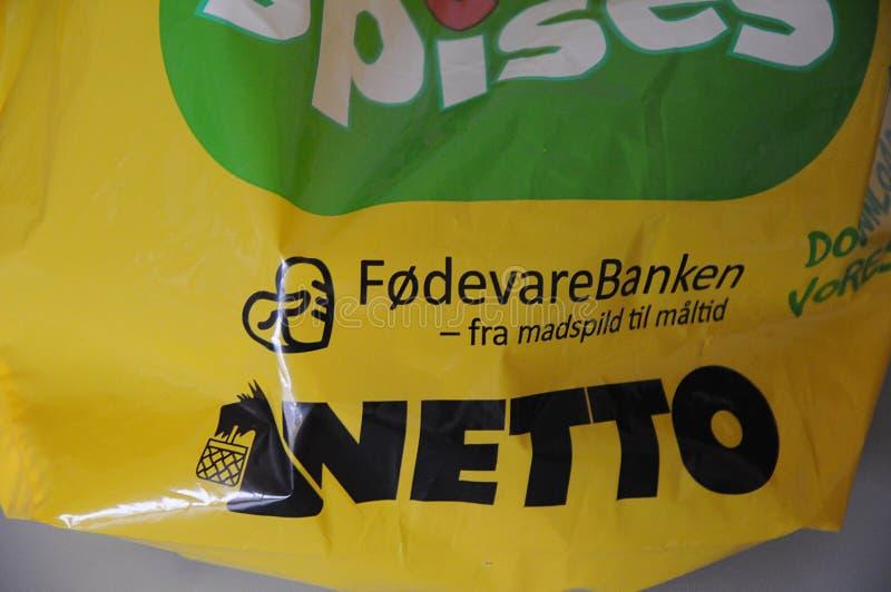 NETTO FOOD MARKET IN COPENHAGEN DENMARK. Copenhagen/Denmark 27.October 2018.. Netto food market in Kastrup danish capital Copenhagen Denmark royalty free stock photography