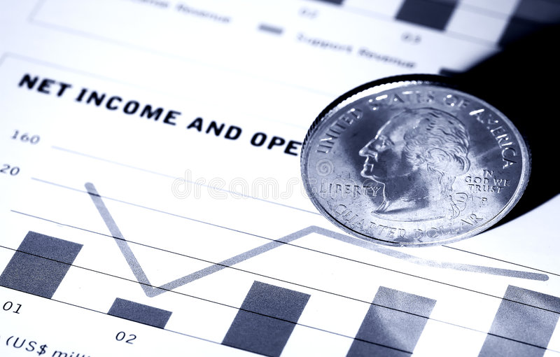 Netto Inkomen stock foto