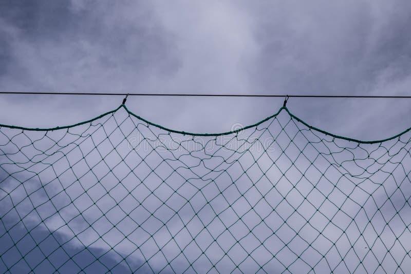Netto met hemelachtergrond stock afbeelding