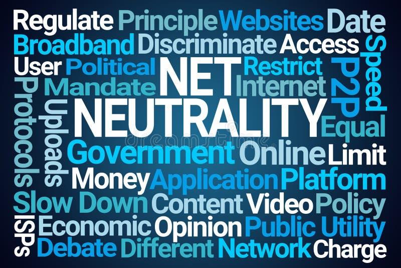 Netto Neutraliteitsword Wolk vector illustratie