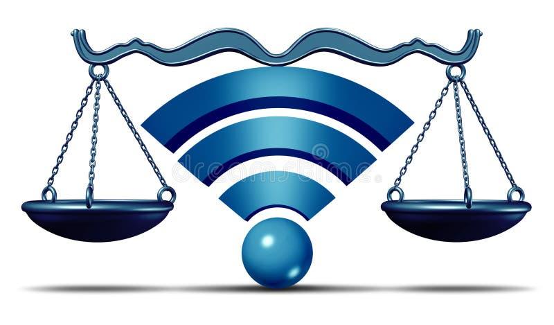 Netto neutralitetsymbol stock illustrationer