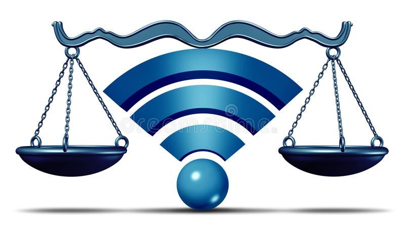 Netto neutralność symbol ilustracji