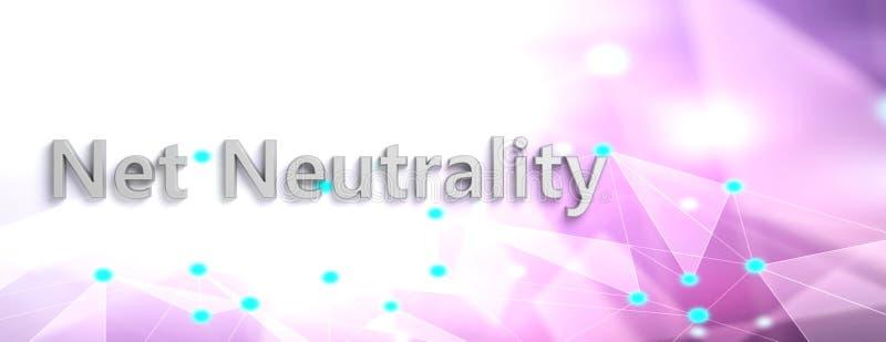 Netto neutralność tekst na abstrakcjonistycznym cyfrowym tle, kopii przestrzeń, sztandar ilustracja 3 d royalty ilustracja