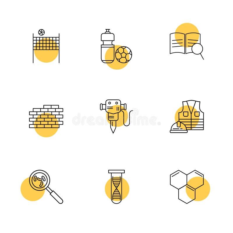 netto salvobal, bal, bakstenen, muur, jackhammer, arbeid royalty-vrije illustratie