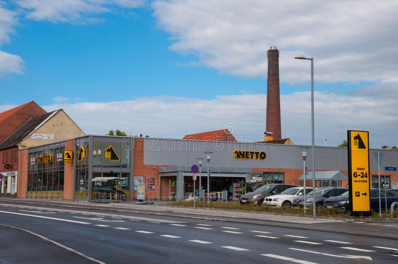 Netto supermarket in Denmark royalty free stock images
