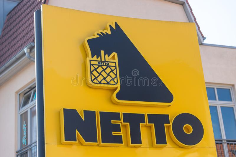 Netto supermarket sign in werder germany stock images