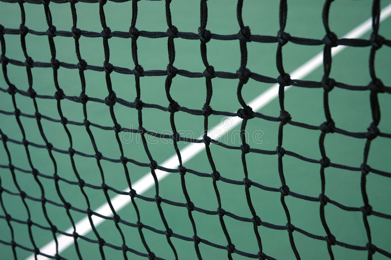 Netto tennis en Lijn royalty-vrije stock afbeelding