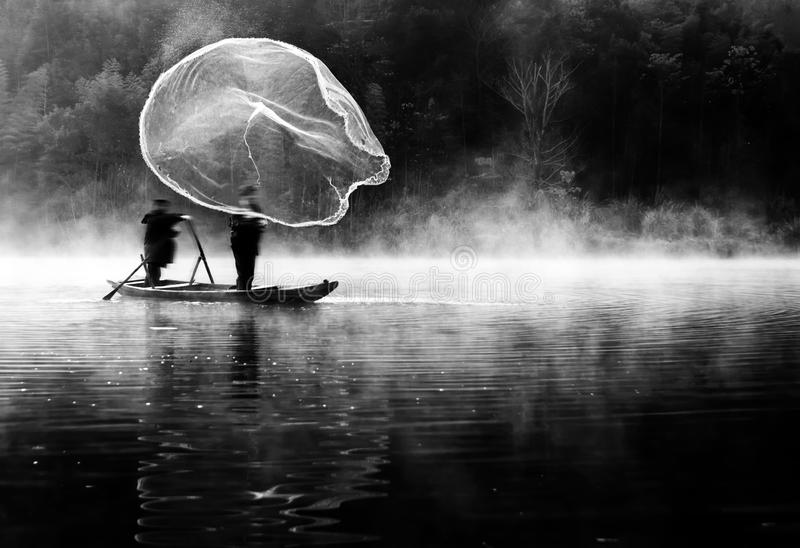 Netto visserij stock foto's