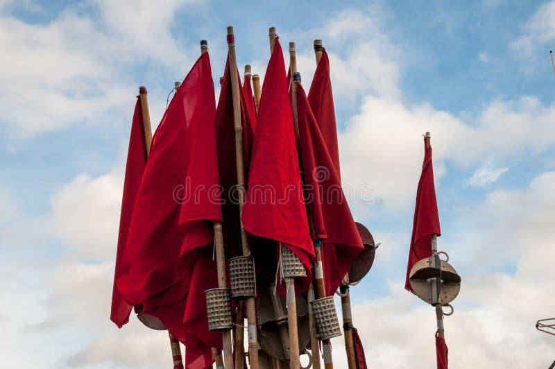 Netto vlaggen redly stock afbeeldingen