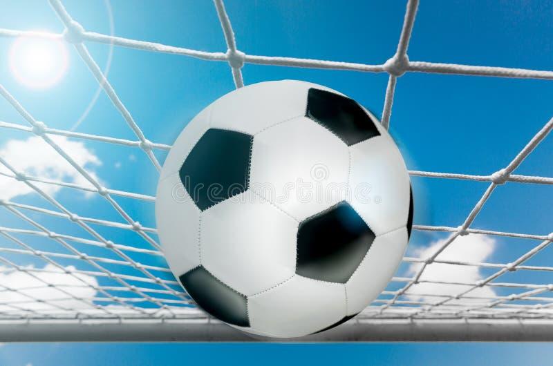 Netto voetbal de bal royalty-vrije stock afbeelding