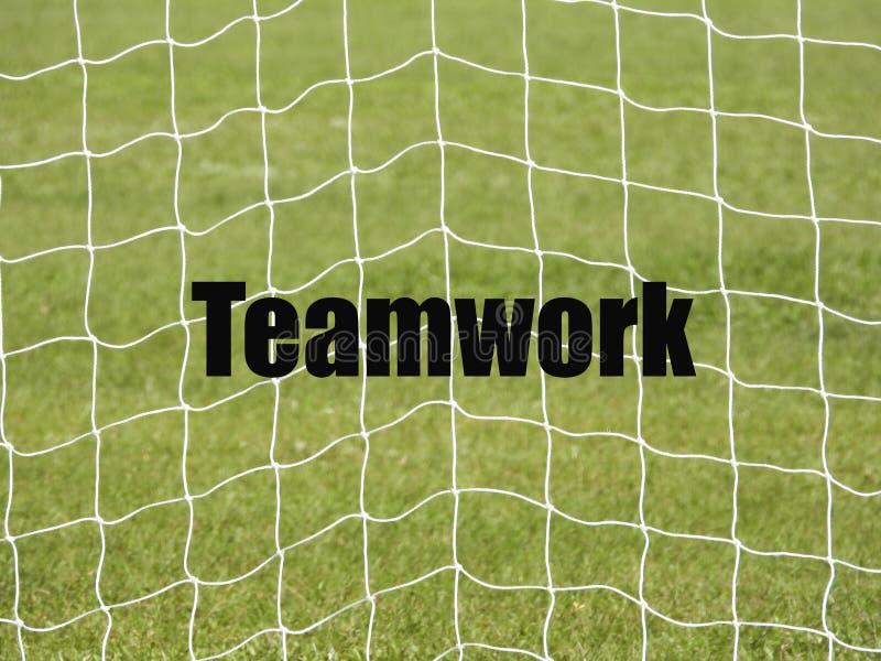 Netto voetbaldoel en woorden vector illustratie