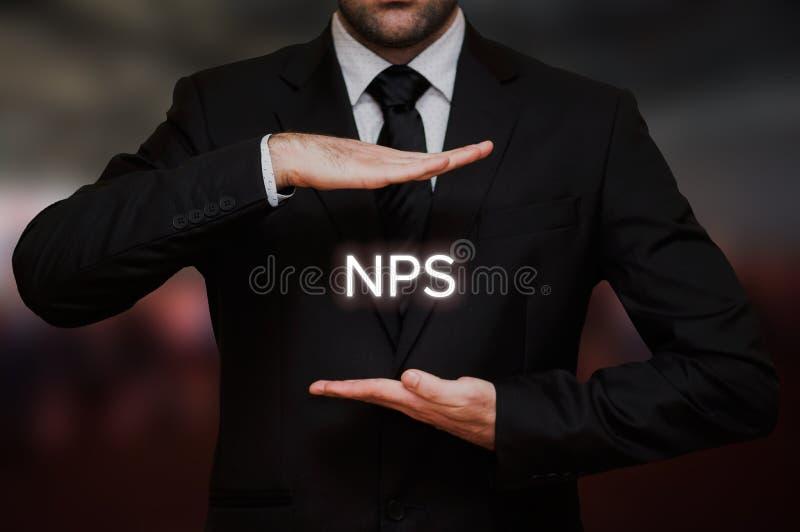 Nettofördererergebnis NPS stockbilder