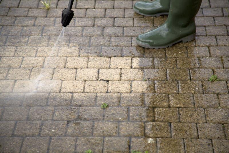 Nettoyage à haute pression - 3 photos libres de droits