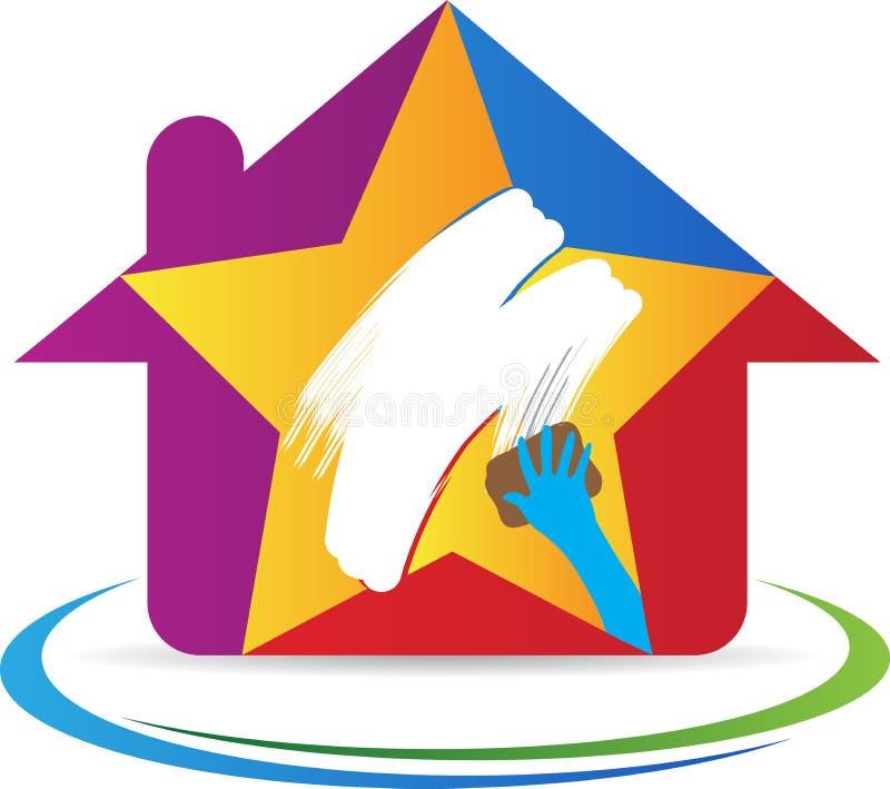 Nettoyage à la maison illustration de vecteur
