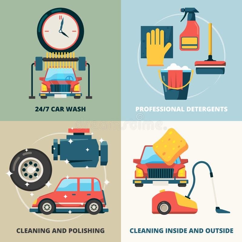 Nettoyage à sec de voiture E illustration libre de droits