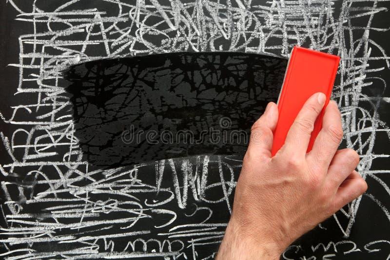 nettoyage d 39 un tableau noir image stock image du tableau mat riel 3246413. Black Bedroom Furniture Sets. Home Design Ideas