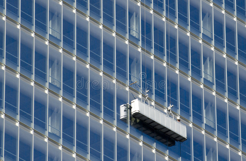 Nettoyage D Une Construction Images libres de droits