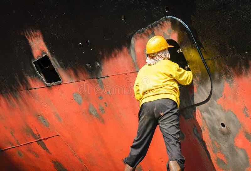 Nettoyage de bateau images stock