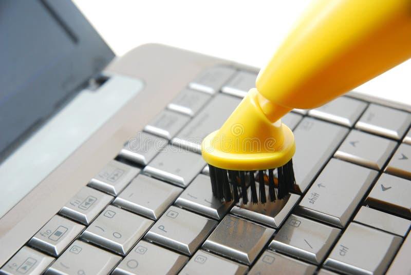 Nettoyage de clavier numérique image stock