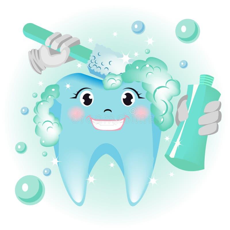 Nettoyage de dents illustration stock