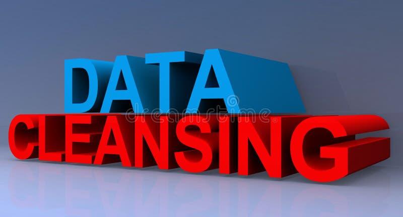 Nettoyage de données illustration de vecteur