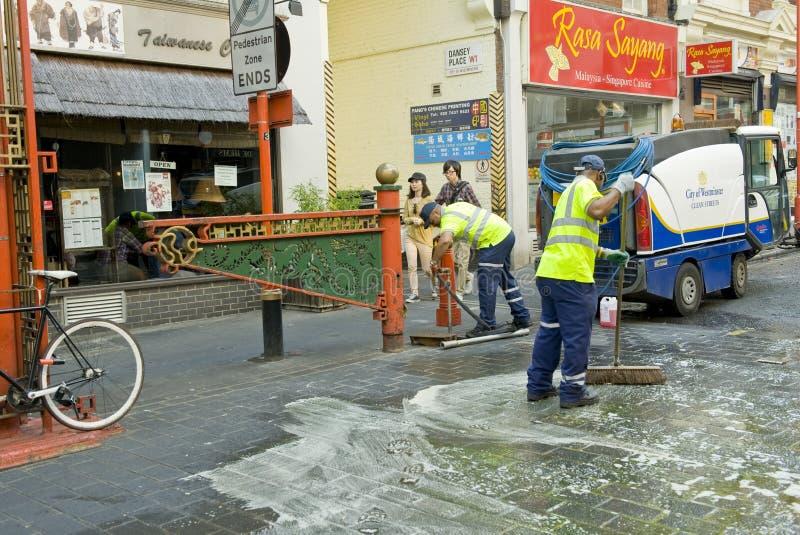 Nettoyage de ville photos libres de droits