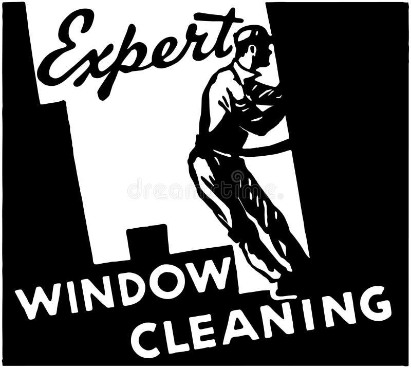 Nettoyage de vitres expert illustration libre de droits
