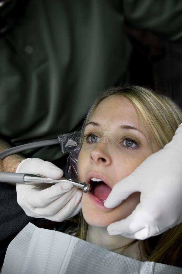 Nettoyage dentaire photo stock