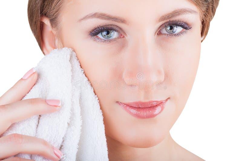 Nettoyage facial photographie stock libre de droits