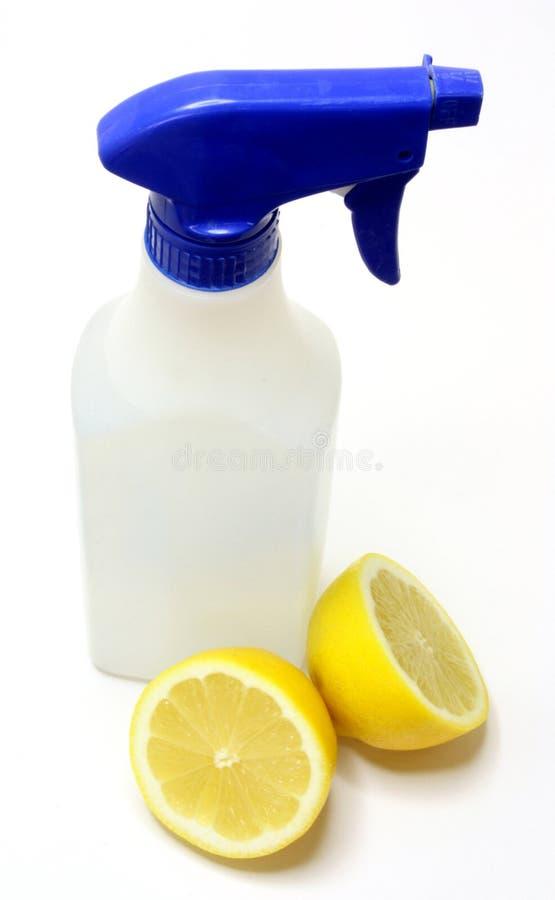 Nettoyage vert normal : Jus de citron images stock
