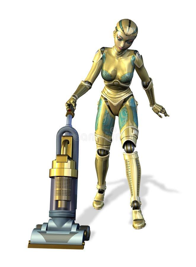 Nettoyer à l'aspirateur de robot illustration de vecteur
