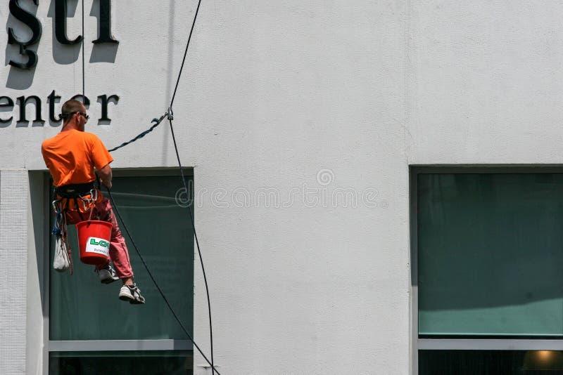 Nettoyeur d'hublots d'alpiniste d'Utilitary photographie stock libre de droits